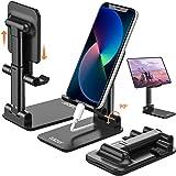Tukzer Tablet Stand, Fully Foldable | Angle Height Adjustable | Tab & Phone Holder Stand for Desk, Cradle, Dock, Desktop Tabl