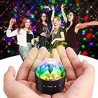 Mini proyector de luz LED estroboscópica para discoteca, luces de escenario, Carryme 3W RGB, con 7colores, efecto de luces de cristal, con rotación, para el hogar, karaoke, Navidad, boda, fiesta, discotecas, bares, cambia de color, con mando a distancia, Rechargeable Built-in Battery 3W(Mini)