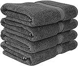 Premium conjunto de toallas de baño (Paquete de 4, 69 x 137 cm) Toallas de algodón 100% Ring-Spun para hotel y spa, máxima suavidad y altamente absorbente por Utopia Towels
