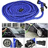 GNEY Aqua Hose Expandable Magic Hose Pipe 50 Ft/15 M For Use Garden Wash Car Bike With Spray Gun And 7 Adjustable Modes
