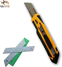 Tools Centre Ingco Industrial Utility Knife Cutter, Snap-off Blade Knife With Free 10pcs Sharpened Blade.