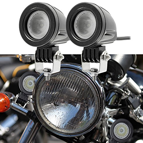 Preisvergleich Produktbild 10W Led Flood Light CREE Auto Driving Light LED Work Mini Round Fog Lamp for Offroad Jeep Wrangler Car Bicycle Motorcycle White Pack of 2