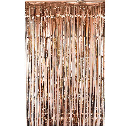 2PACKS 3ft x 8.3ft Oro rosa Oral Metálico Papel aluminio
