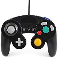 QUMOX wired classic controller joypad gamepad für nintendo gamecube gc & Wii schwarz ( Turbo Slow Funktion )