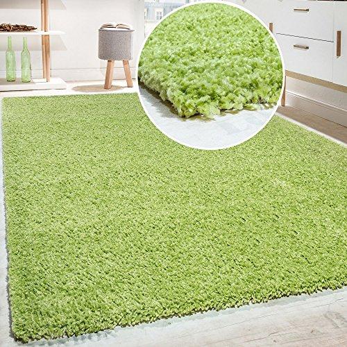 Shaggy - tappeto a pelo lungo in diversi colori e misure, dimensione:190x280 cm, colore:grün