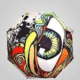 Guo Original nueva tendencia de la personalidad de los ojos de la manera creativa engranaje de la lluvia del paraguas protector solar del viento