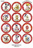 12 x Cakeshop decoración para pasteles comestibles PRECORTADAS de casa Mickey Mouse