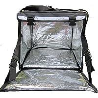 PK-64B: Mochila grande de pizza, bolsa de alimentos, bolsas de suministro de alimentos, cajas de entrega de alimentos calientes, lateral + carga superior, cierre de cremallera, 40,6 cm de largo x 40,6 cm de ancho x 40,6 cm de alto.