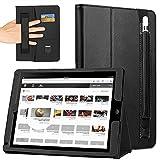"""COCASES Coque iPad Pro 12.9 Pouces Pochette de Protection pour Tablette Housse en Simili Cuir avec Porte Carte de Crédit (12.9"""" Noir)"""