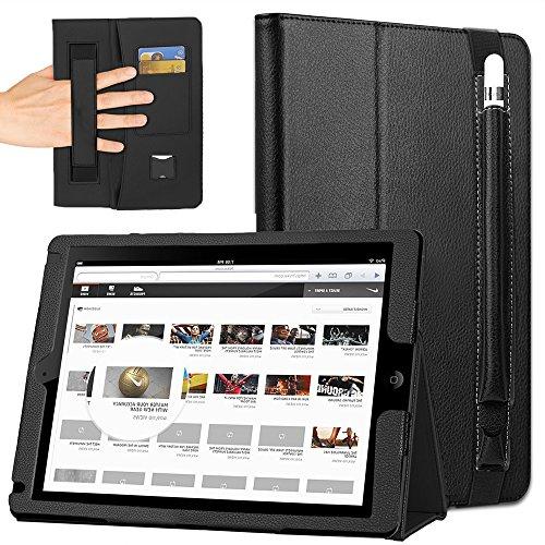 COCASES Kompatibel mit iPad Pro 12.9 Hülle,Schutzhülle mit Auto Schlaf/Wach Funktion & Pencil Stifthalter in einem kompatibel mit iPad Pro 12.9 Zoll 2017 & iPad Pro (12.9 Zoll 2015) Schwarz