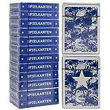 Tronje Pokerkarten 12 Decks Spiel-Karten Poker-Karten in Blau Wasserabweisend 2 Eckzeichen