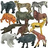 Spielzeug Tier Set - Zoo Tiere Spielzeug - große Tiere Set - Spielzeug Tierfigur Kunststoff Multi Style Wildtier Figur Geschenk Set - für Kinder und Sammler (Set von...