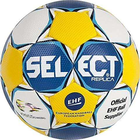 Select Ultimate Replica Ballon de handball EC pour femme 1 Blanc - Bleu/Jaune/Blanc