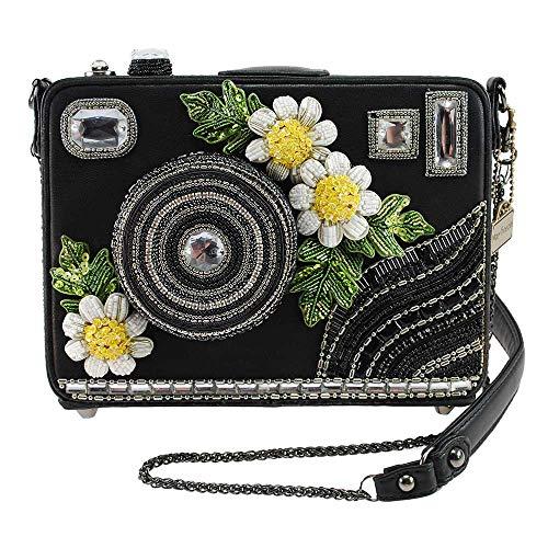 Mary Frances Damen Embellished Camera Crossbody Handbag Pop Up, verziert, Kamera, Umhängetasche, Handtasche, schwarz, Einheitsgröße