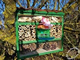 Insect Hotel with Feeder and Wood Bark Natural...