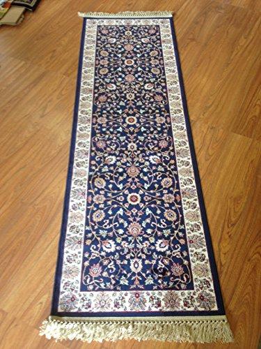 passatoia-cm-67-x-210-disegno-persiano-con-frangia-blu-blue-classico-tappeto-corridoio-disegno-persi