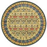 Retro- runder Teppich, nordische Komfort-Bodenbelag-Badezimmer-rutschfeste Wolldecken-Wiegen-Matte 60/80/100/120/140/160/180/200cm Kaffee-Tabellen-Matte ( Color : I , Size : 160*160cm/62.99*62.99in )