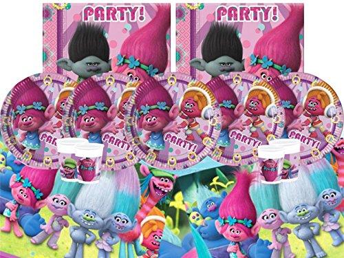 DreamWorks Bpwfa-64Trolls Vaisselle de fête pour 8Personnes