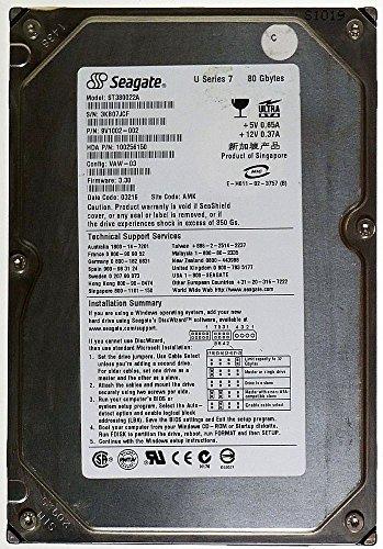 80GB AT HDD Seagate Barracuda U Series 7 ST380022A IDE ID13333