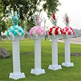 Malayas® 2 Unidades Columnas Florales Romanas de 102cm de Alto, Pilares De Plástico Pedestales Soportes De Flores Hortensia Guirnalda de Flores Decoración De Boda Eventos Celebraciones Ceremonias Aniversarios Fiestas Para Interiores y Exteriores, Wedding Flower Feather Ball Floral Stand