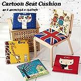 Sitzkissen für Kinder mit lustigem Aufdruck, dickes Stuhlkissen für Zuhause/Büro/Auto, 1Stück