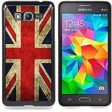 Graphic4You Bandera de Reino Unido Inglaterra Gran Bretaña Union Jack Británica Carcasa Funda Rigida para Samsung Galaxy Grand Prime