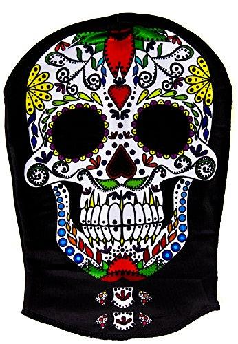 DAY OF THE DEAD SUGAR SKULL-MASK MASKE SKINSUIT STIL FÜR HALLOWEEN, KOSTÜM VON ILOVEFANCYDRESS ®-MEXIKANISCHER SPANISCHEN DIA DE LOS MUERTOS