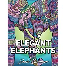 Elegant Elephants: An Adult Coloring Book with Elephant Mandala Designs and Stress Relieving Patterns for Anger Release, Adult Relaxation, and Zen