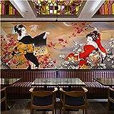 Ytdzsw Japanische Design Fototapete Fototapete 3D Wallpaper Rolls Shop Restaurant Wand DekorativesWandbildMural 3D-300X210Cm