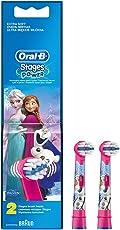 Oral-B Stages Power Kids Aufsteckbürsten, im die Eiskönigin - völlig unverforen Design, 2 Stück