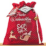 Saufsack - Die Trinkspielesammlung - Partyspiel - Trinkspiel - lustiges Saufspiel und Geschenkidee für Erwachsene oder zum 18. Geburtstag - Frohe Weihnachten Edition