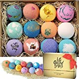 LifeAround2Angels Bath Bombs Gift Set 12 USA made Fizzies, Shea & Coco Butter Dry Skin Moisturize, Perfect for Bubble & Spa B