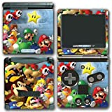 Super Mario Party Friends Island Tour Shy Guy Peach Yoshi Luigi Star Daisy Wario Bowser Video Game Vinyl Decal Skin Sticker Cover for Nintendo GBA SP Gameboy Advance System by Vinyl Skin Designs