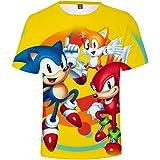 HAOSHENG Impresión 3D Camiseta Cómodo niños tee Animado impresión Shirt de los niñas Casuales de Manga Corta Tops