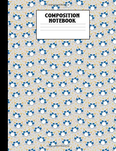 Composition Notebook: Drum Pattern College Ruled Lined Comp Book
