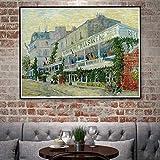 tzxdbh Cafe Restaurant Kirche Vincent Kunstwerk Kunst Silk Poster Home Deco Ölgemälde 12 x 16 18 x...