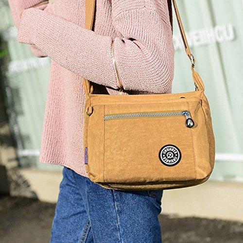 Foino Umhängetasche Leichter Kuriertasche Wasserdicht Schultertasche Damen Taschen Designer Strandtasche Sporttasche Messenger Bag für Reisetasche Blau