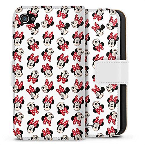 Apple iPhone 7 Plus Silikon Hülle Case Schutzhülle Disney Minnie Mouse Fanartikel Geschenk Sideflip Tasche weiß