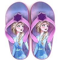 Disney Frozen 2 Light Up Girls Classic Slip On Flip Flops Lightweight Garden Pool Beach Holiday Sandals, Incredible Kids…