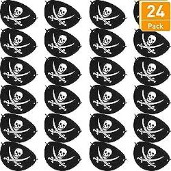 Set de parches de pirata para fiesta, 24 pz.