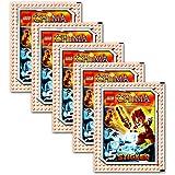 Panini - LEGO Chima Sticker 5 Booster Packungen Sammelsticker 25 Sticker - Deutsche Ausgabe