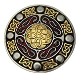 Celtic Round Design Gürtelschnalle mit Vergoldung, in einer meiner Präsentationsschachteln. (G/R)