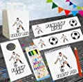 Football Party Bag Complete With Fillers - Loot Goody Kids Boys Girls Birthday (White Kit)