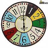 Artlivo Popart Vibgyor Round Clock - Eng...