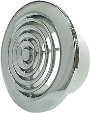 2100C Interne Belüftung Gitter Grill Rund Chrom 100mm Abzug Ventilator Badezimmer