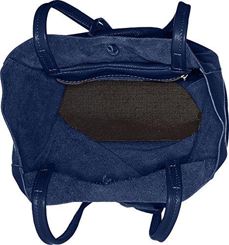 Chicca Borse 8872, Borsa a Spalla Donna, 37x41x14 cm (W x H x L) Blu (Blue Jeans)