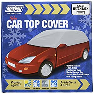Maypole MP992 Water Resistant Car Top Cover Frost and Winter Protector, Grey, L