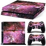 Ps4 Playstation 4 Consola Design Foils Sticker Decal Pegatinas + 2 Controlador Skins Set (Pink Galaxia)