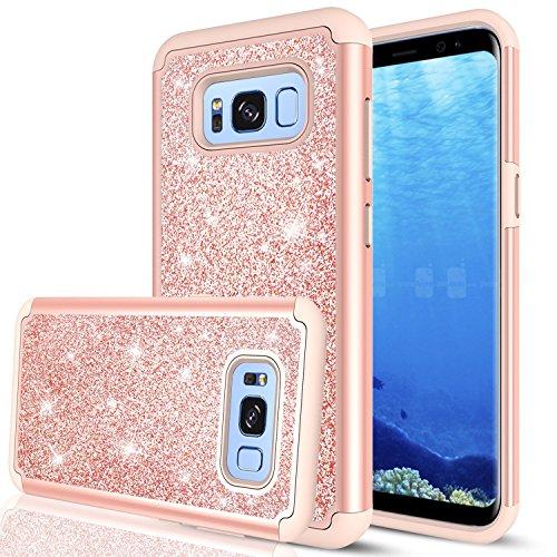 Galaxy S8 Active Glitter Hülle (Do Not Fit S8),Spritech - hübsche mädchen frauen [2] 1 pc silikon leder schweren schützende telefon Hülle für Samsung Galaxy S8 Active -