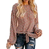 40%-60% Off!Ieason Women's Cotton Top Flower Print Fashion Casual T Shirt Ladies Long Sleeve Blouse